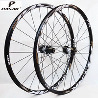 PASAK MTB Mountain Bike Four Sealed Bearings Ultra Light CNC Disc Wheels Rim 11 Speed Support