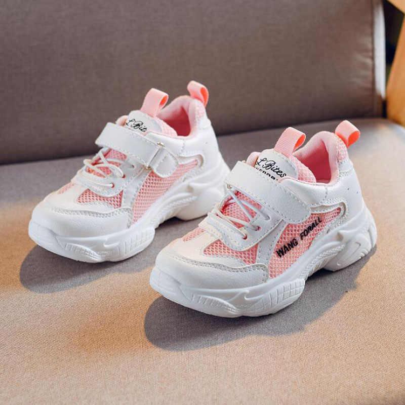 2019 kinderen sport schoenen kids mesh sneakers nieuwe jongens en meisjes casual deodorant ademende schoenen