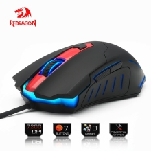 Redragon high quality Gaming Mouse PC 7200DPI 6 programmable buttons ergonomic design high-speed USB Wired for Desktop mouse(China)