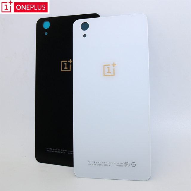 best sneakers 4d23c 1b357 US $3.39 15% OFF|Original white black Back Glass Replacement For One Plus X  OnePlus 1+X Battery Cover Rear Door Housing Case with Sticker-in Mobile ...