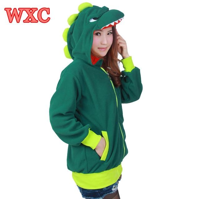 31cafee9ab851 Dinosaur Hoodies For Women Cool Sweatshirts With Tooth Moleton Soft Fleece  Warm Women Jacket Casual Hooded Hoodie