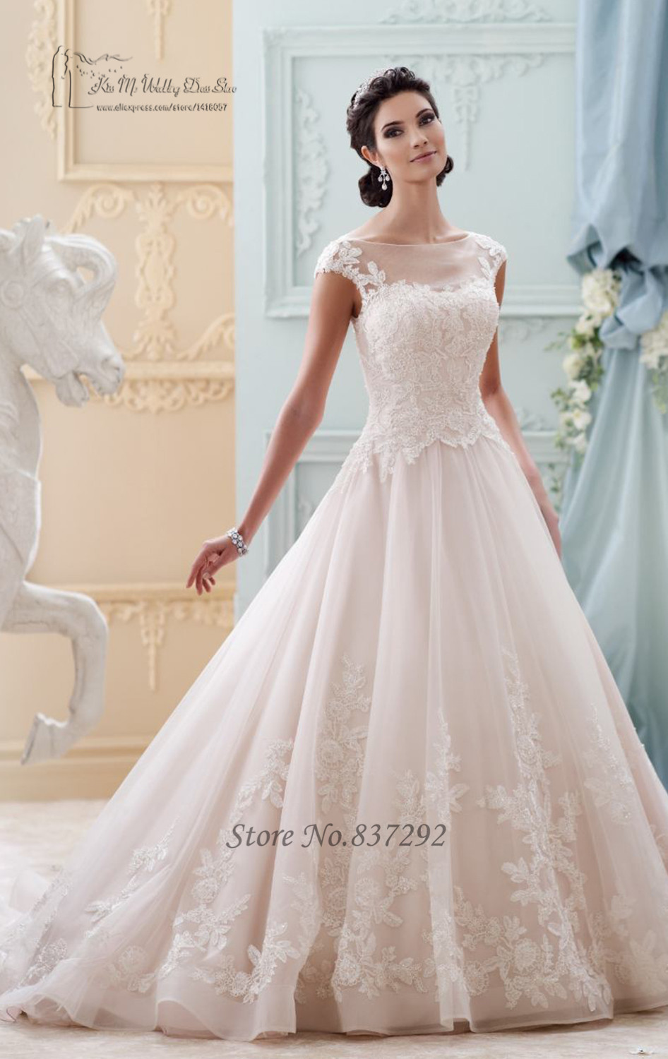 Princess Style Wedding Dress with Sleeves | Dress images