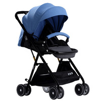 Baby Stroller Lightweight Folding High Landscape Stroller Reclining Child Trolley Pram Portable Stroller Baby Carriage