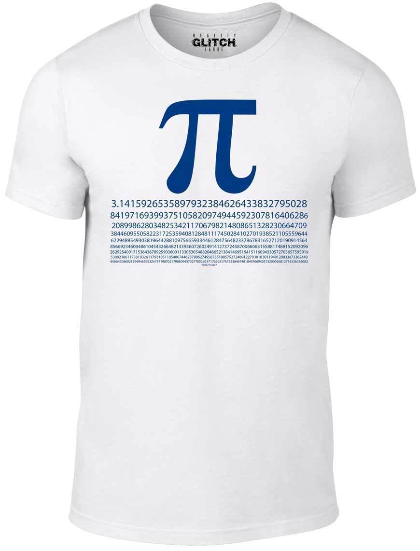 Mens Pi Numbers T-Shirt - Funny t shirt mathematics maths science joke fashion
