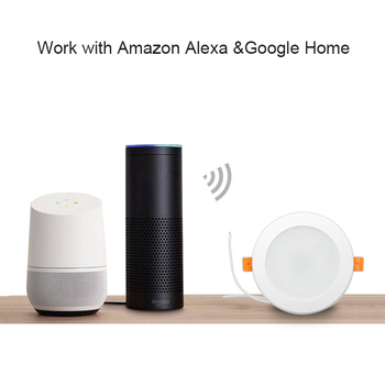 Zemismart 4 بوصة واي فاي RGBW أدى النازل 10W التحكم الصوتي اليكسا صدى نقطة بقعة عرض Google Home Assistant IFTTT أتمتة المنزل 1
