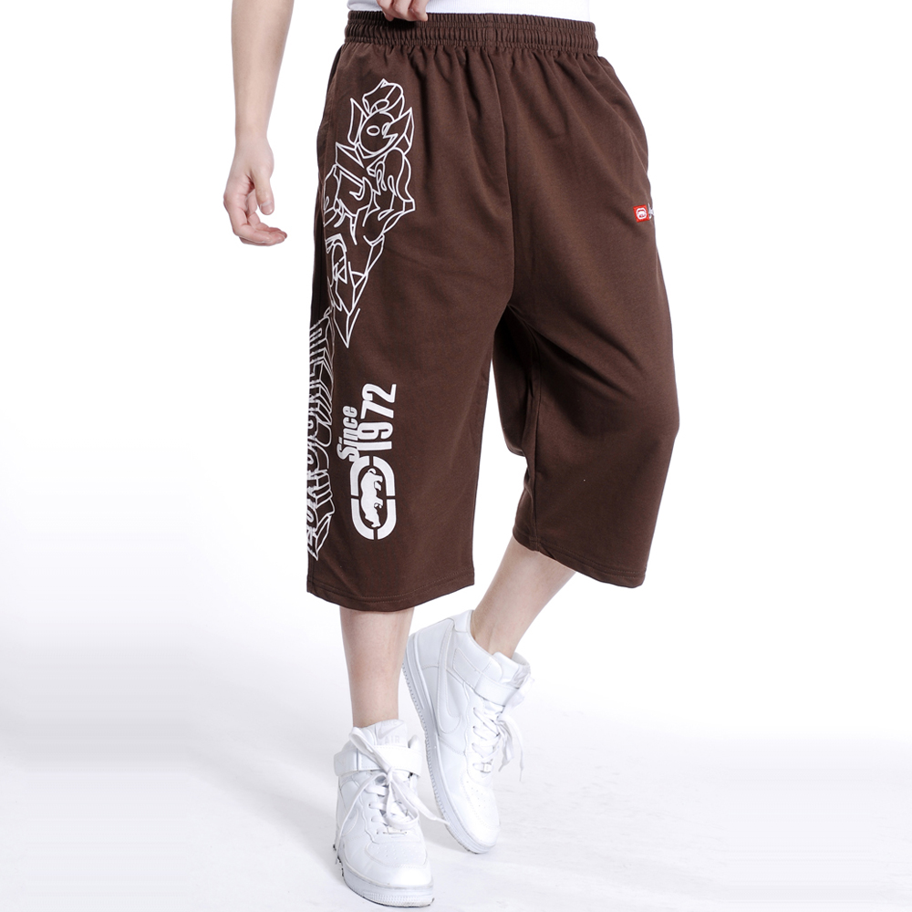 2019 Hip Hop men male Brand Joggers Clothing Exercise Men   Shorts   Summer Baggy Loose Calf Trousers Plus Size XXXXL 5XL 6XL A57
