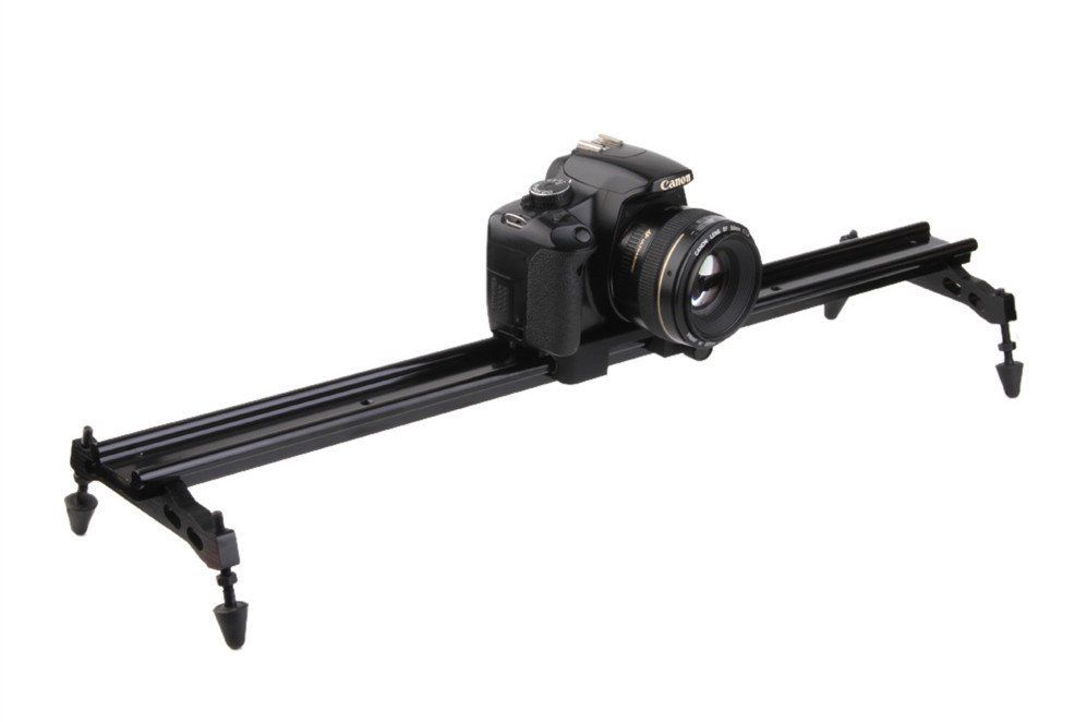 24 60cm Metal Camera Video Glide Track Slider Rail Dolly Stabilizer for Tripod DSLR DV double track design wh60r 60cm 23 6 inch portable dslr dv camera damping track dolly slider video stabilizer system