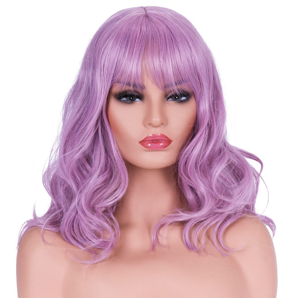 BESTUNG Shoulder Length Wigs  Long Wavy Curly Synthetic Halloween Cosplay Costume for Women