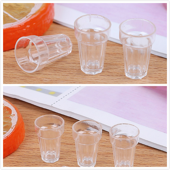 4pcs/set Resin Transparent Home Glass Model Goblet Miniature Mini Wine Beer Cup Dollhouse Craft DIY Parts 1:12 Scale4pcs/set Resin Transparent Home Glass Model Goblet Miniature Mini Wine Beer Cup Dollhouse Craft DIY Parts 1:12 Scale