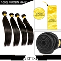 """6A barato peruano virgem cabelo liso weave extensões 3 pcs lote 8 """"-26"""" natural preto 100g não transformados produtos de cabelo humano remy"""
