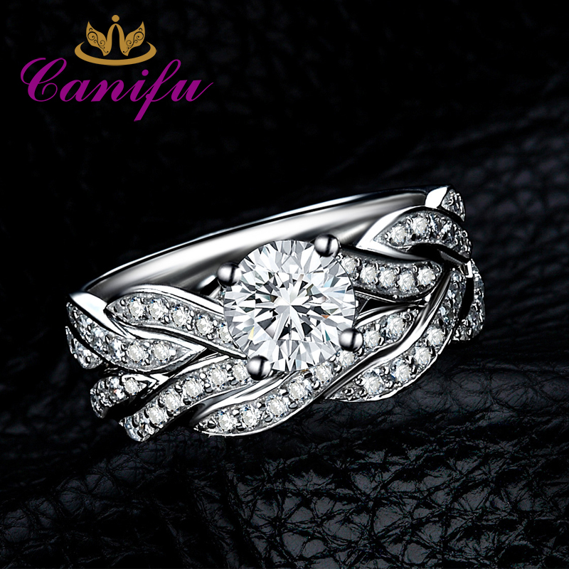 Canifu New arrival Unique Design Double Ring With Cubic Zirconia AAA Noble Jewelry for Girl