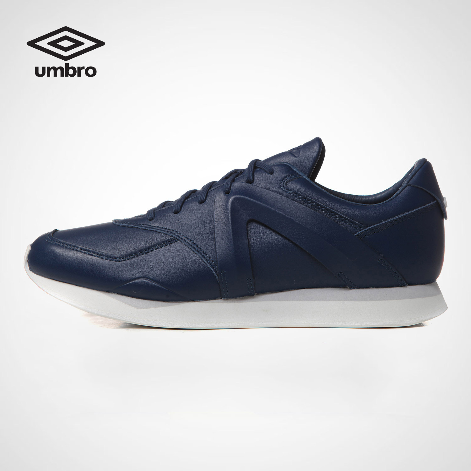 Clearance Umbro New Men Genyine Leather Shoes Lace Up Classic Breathable Sports Running Jogging Sneakers Sports