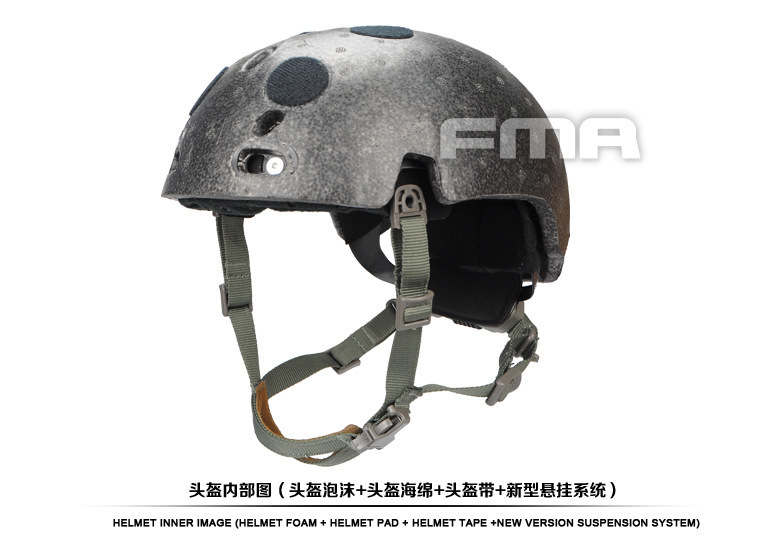 FMA Helmet Suspension System + Senior Memory Sponge + Helmet Foam TB1050-FG new maritime tactical fma helmet abs fg for fma paintball free shipping