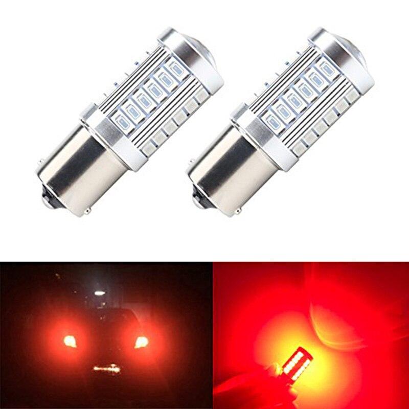 2 шт. 1156 7506 BA15S P21W 5630 5730 светодиодный автомобиль хвост лампы тормоз светильник s 12V автоматический обратный лампы дневного света сигнала светильник Z4 - Испускаемый цвет: 2pieces Red
