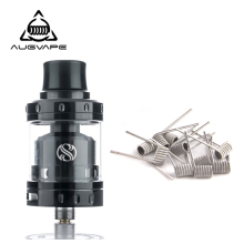 Augvape Merlin Mini RTA Atomizer tank with 10pcs Clapton Dual Core Fused Coils Leak Proof Bottom Single Coil RTA Atomizer original geekvape ammit dual coil rta tank 3ml 6ml atomizer support both dual and single coil