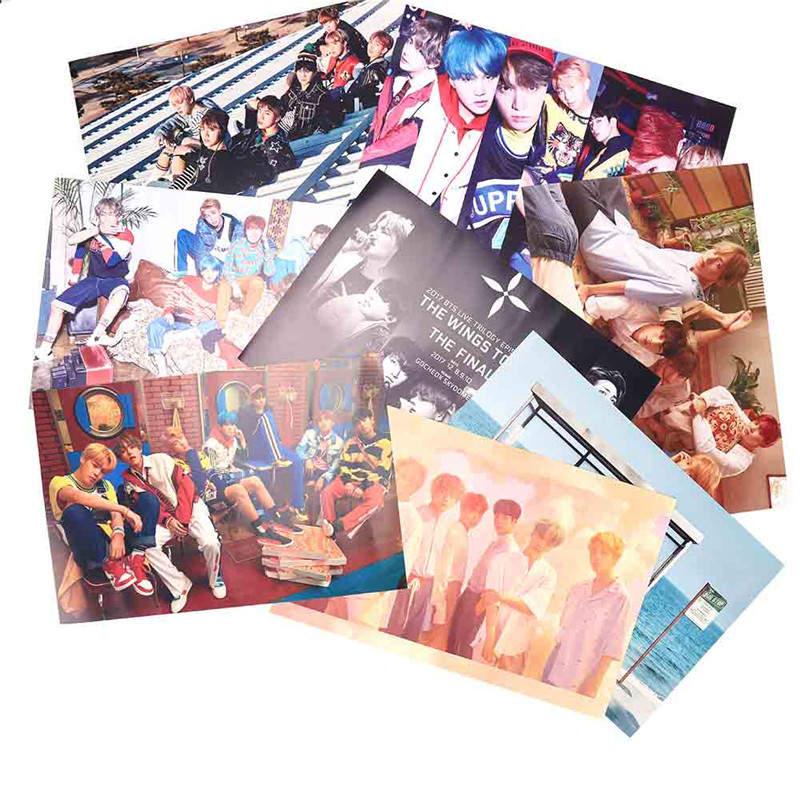 8pcs/set KPOP BTS Posters Bangtan Boys Bulletproof Boy
