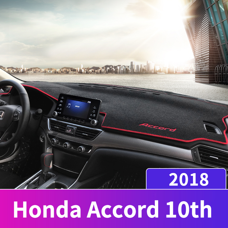Car dashboard Avoid light pad Instrument platform desk cover Mats Carpet Anti UV LHD For Honda Accord 10th 2018 2019 Accessories-in Interior Mouldings from Automobiles & Motorcycles