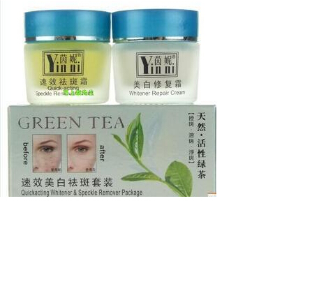 Yinni Green Tea Anti Freckle Skin Care Whitening Cream For Face Remove Pigment Day and Night Cream skin care original whitening cream for face bailianna day cream night cream removal freckle superfine