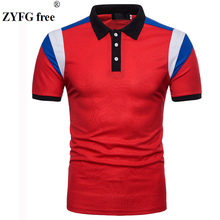 2018 causal polo shirt summer style men's fashion four colors patchwork slim short sleeved POLO Shirt dress men EU/US size M-XXL tops summer style polo shirt men s causal fashion brand striped color slim short sleeved polo shirt dress men eu us size m xxl
