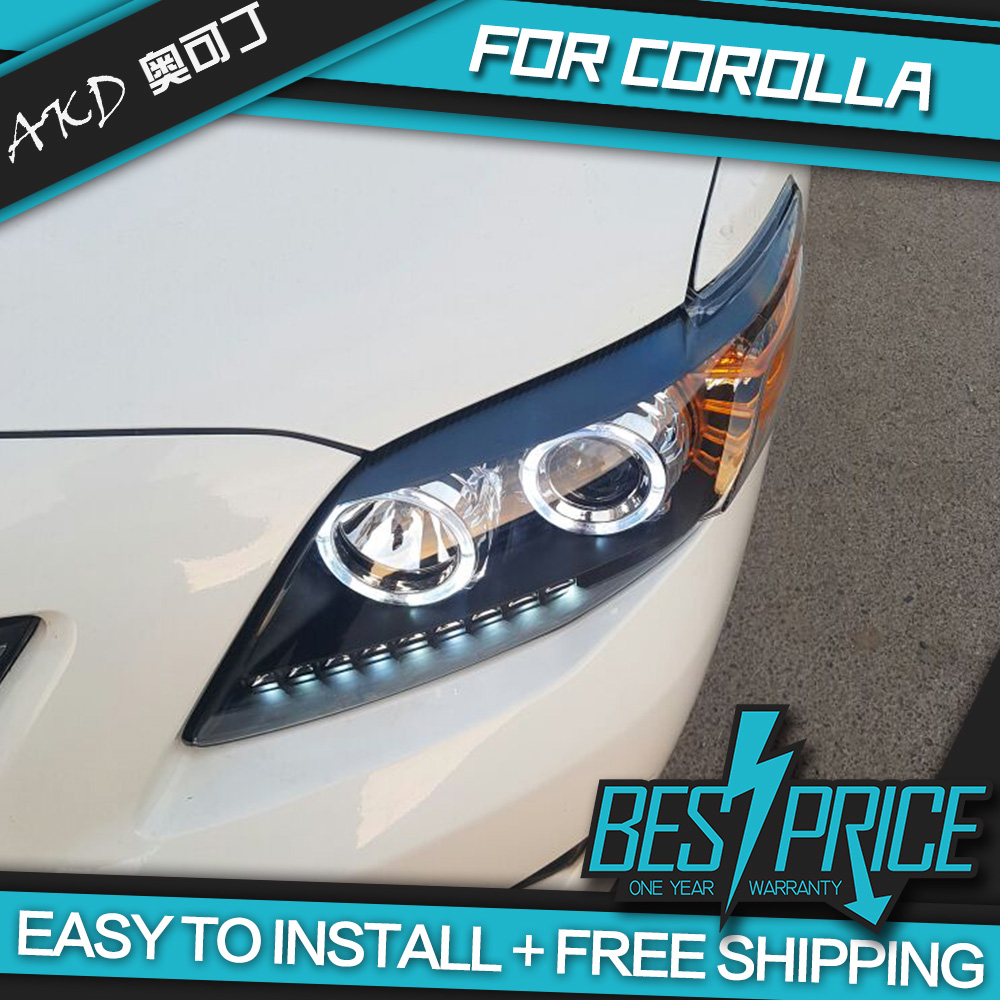 Car Styling for Corolla Headlights 2008 LED Headlight LED DRL Dynamic Signal Hella 5 Bi-Xenon Projector Lens Hid D2H