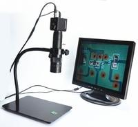 Monocular video digital microscope stand desktop universal adjustable 400mm metal hose