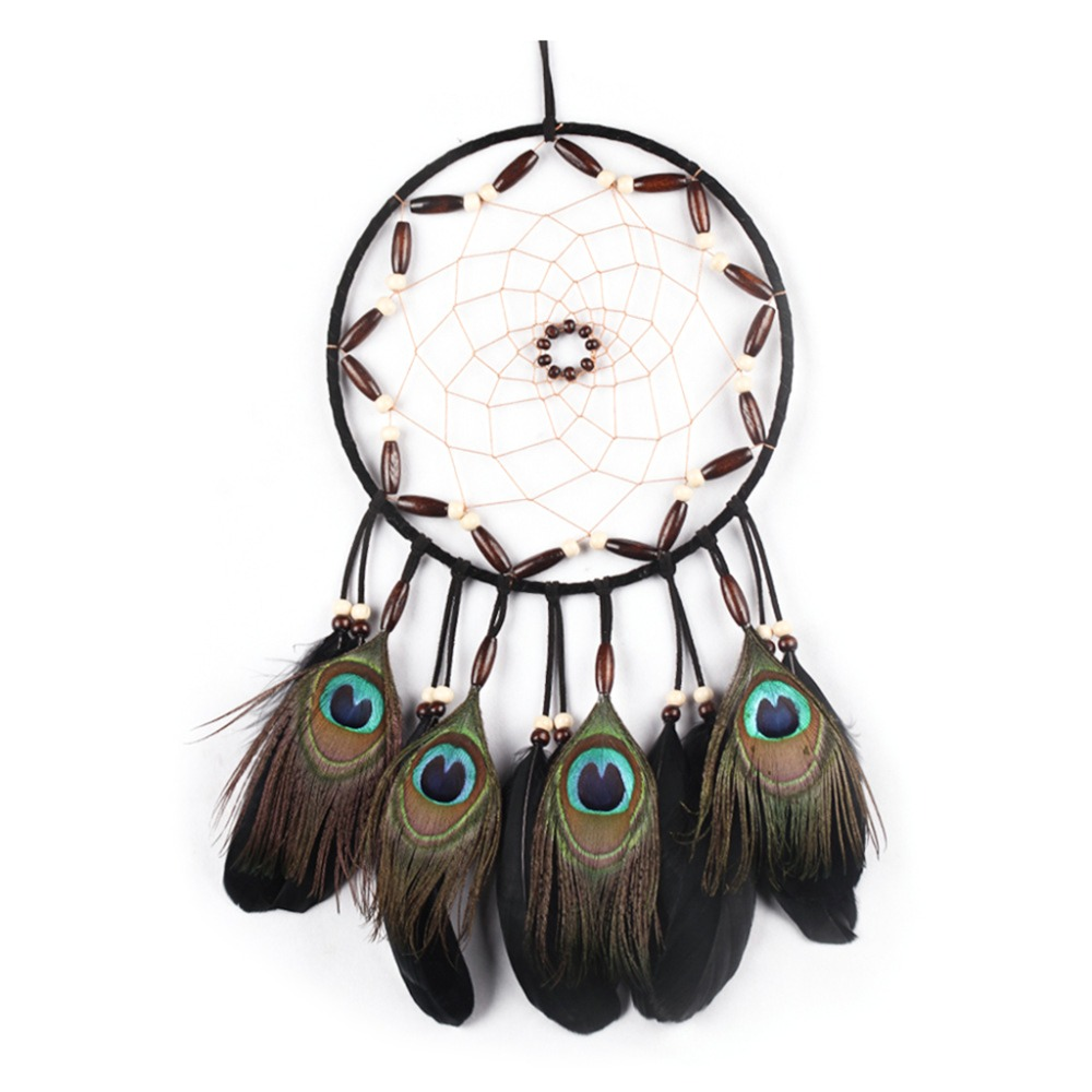 Dream Catcher Peacock Feather Car Hanging Ornament Room ...
