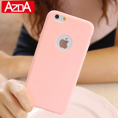 Candy Soft TPU Silicon phone cases Coque with logo window Accessories For font b iPhone b
