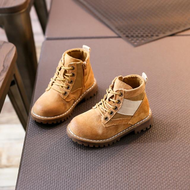 a6188500c Nauhutu bajo-top botas militares para niños transpirable calzado fuerte  suela de goma zapatos de