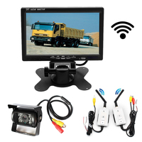 wireless 7 Inch car Monitor TFT LCD display screen for bus truck with night vision rear view camera Parking Assistance kit