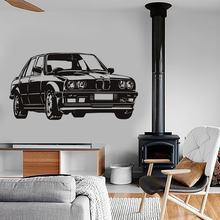 BMW Car Vinyl Wall Stickers Mural For Kids Room Removable Decoration Vehicle Wall Decal Bedroom Nursery Home Decor Poster W017
