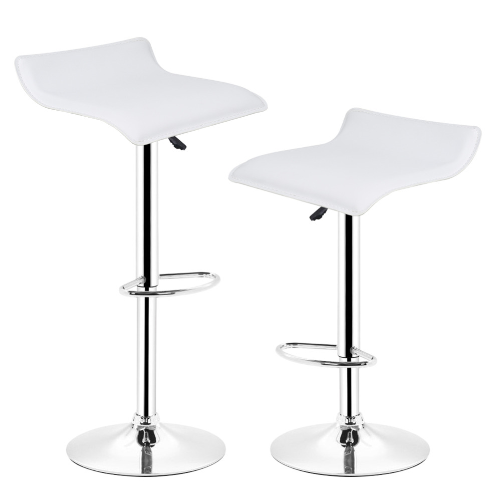 HOT SALE 2pcs Synthetic Leather Adjustable Swivel Bar Stools Chairs Pneumatic Heavy-duty Counter Pub Living Room Furniture HWC