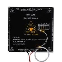 MK2B heatкровать 214*214*2 мм со светодиодами, резистором и кабелем, нагревательная пластина Mendel MK2A PCB heatкровать для 3d принтера