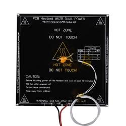 Heatbed mk2b 214*214*2mm com led e resistor e cabo placa quente mendel mk2a pcb heatbed para impressora 3d