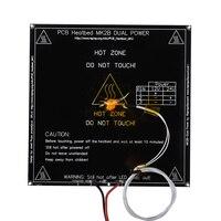 MK2B Heatbed 214*214*2 мм со светодиодами и резистором и кабелем с горячей пластиной Mendel MK2A PCB Heatbed для 3D принтера