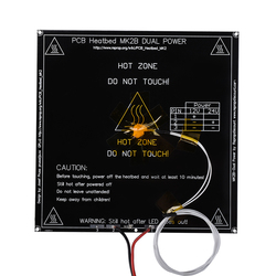 MK2B Heatbed 214 * 214*2mm with led and Resistor and cable Hot Plate Mendel MK2A PCB Heatbed For 3D Printer