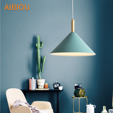 AIBIOU Modern LED Pendant Lights For Dining Colorful Lamp E27 Bar Light Kitchen Designer Restaurant Hanging Lighting