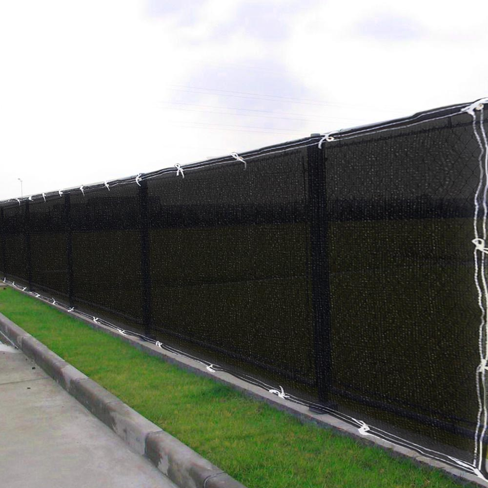 6x 50 Pantalla Valla Cubierta Negro Tela Plana De Listones De - Tela-para-jardin