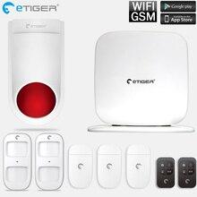 eTiger WiFi GSM Alarm System With Outdoor Siren Etiger 433mhz Intruder Burglar Home Security System