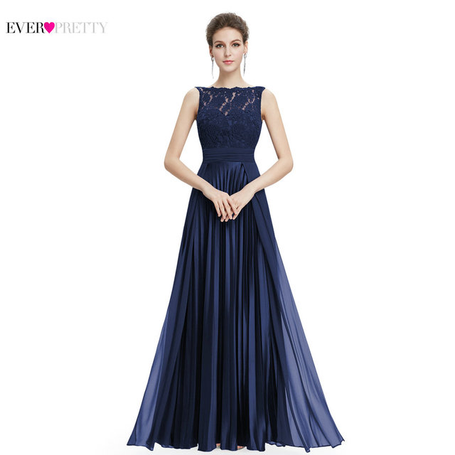 Ever Pretty Evening Dresses Gorgeous Formal Round Neck Lace Long Sexy Red Women Party EP08352 Special Occasion Party Dress