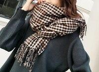 AUCALVI Neue Mode Winter Schal Für Frauen Warme Marke Schal Luxus Plaid Kaschmir Schals Frauen Langen Schals Großhandel Preis