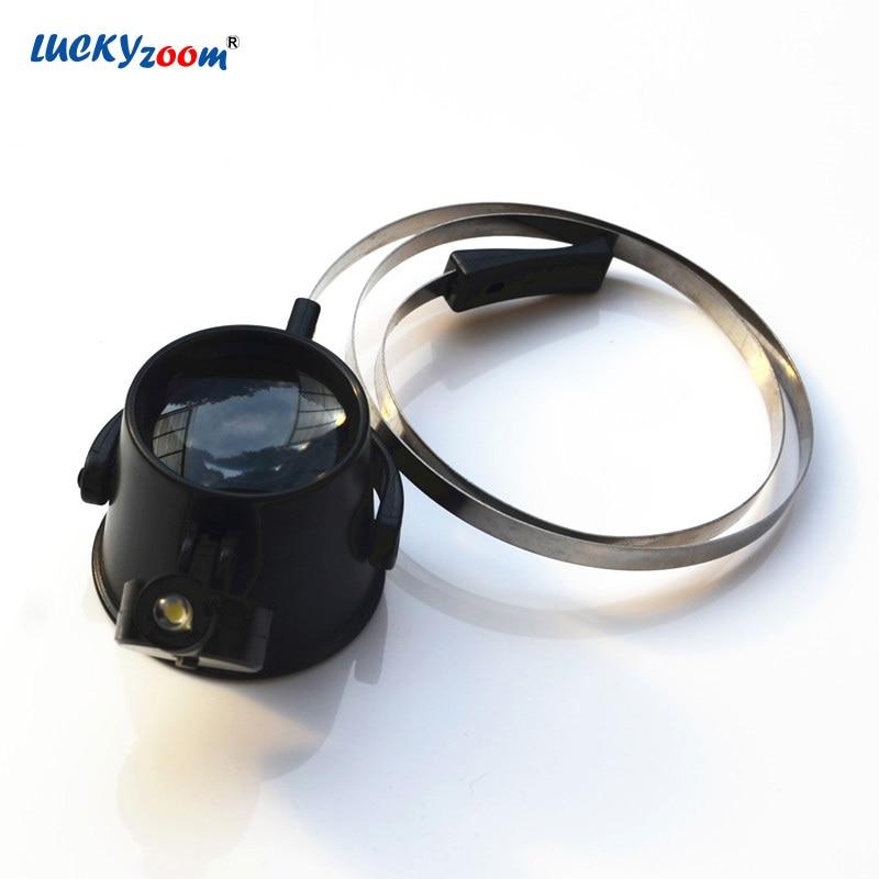 Wearing Eye Glasses LED Magnifier 15X Illuminated Magnifying Glass Jewelry Loupe Magnifier Mask Identification Watch Clock Lupa
