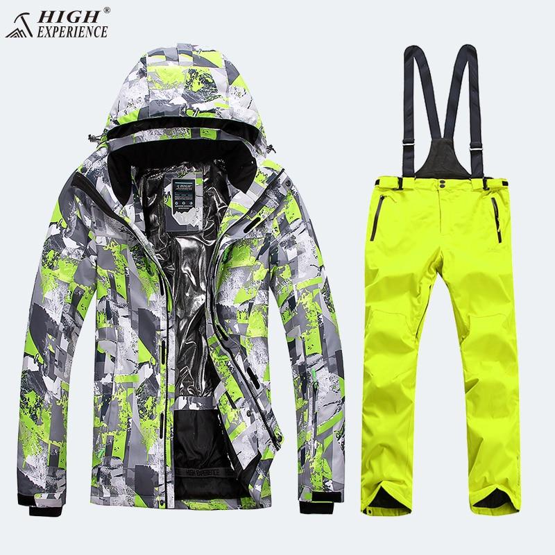 Veste de Snowboard haute expérience pantalon hiver costume de Ski pour hommes costumes de Snowboard hommes épaissir veste de Ski pour hommes costume de Sport d'hiver
