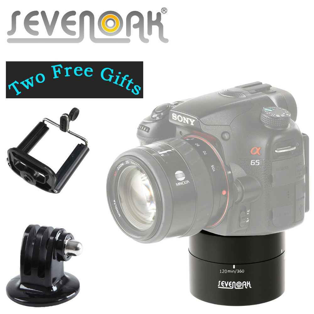 Sevenoak Mechanical 카메라 파노라마 360도 회전 회전 드리프트 헤드 GoPro IOS iPhone 7 6의 시간 경과 SmartPhone DSLR