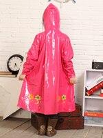 Gifrl dolce lungo nylon impermeabili hight quality spessore impermeabile poncho giallo e rosso