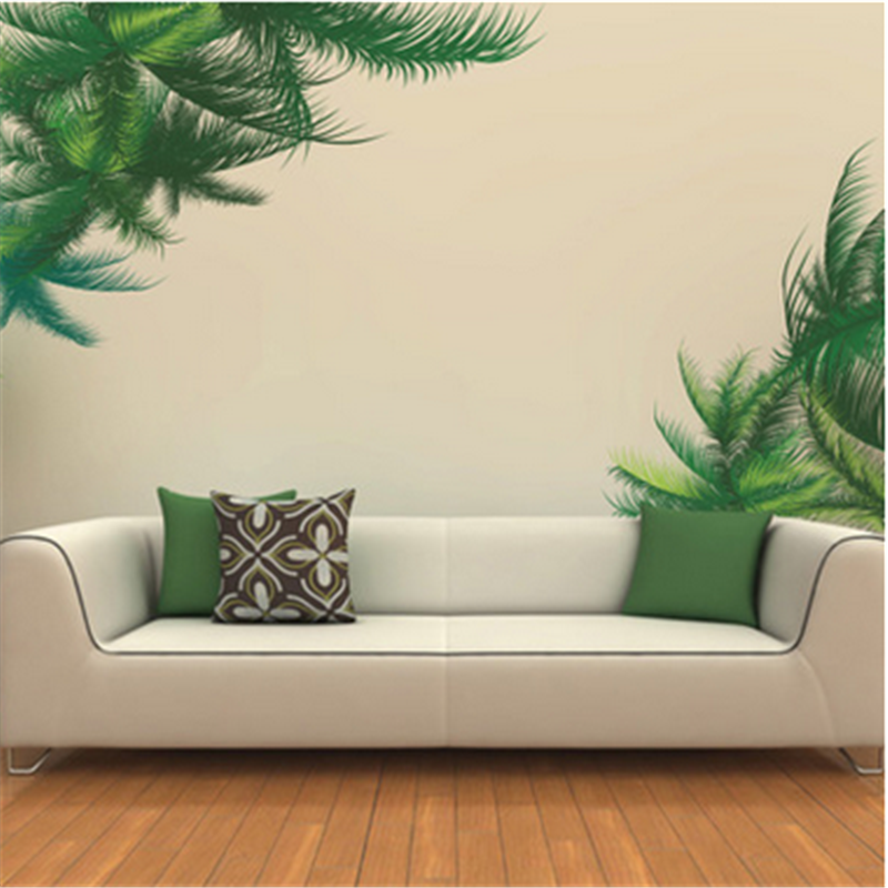 Palm Leaves Wall Stickers Vinyl Diy Tree Leaves Wall Art
