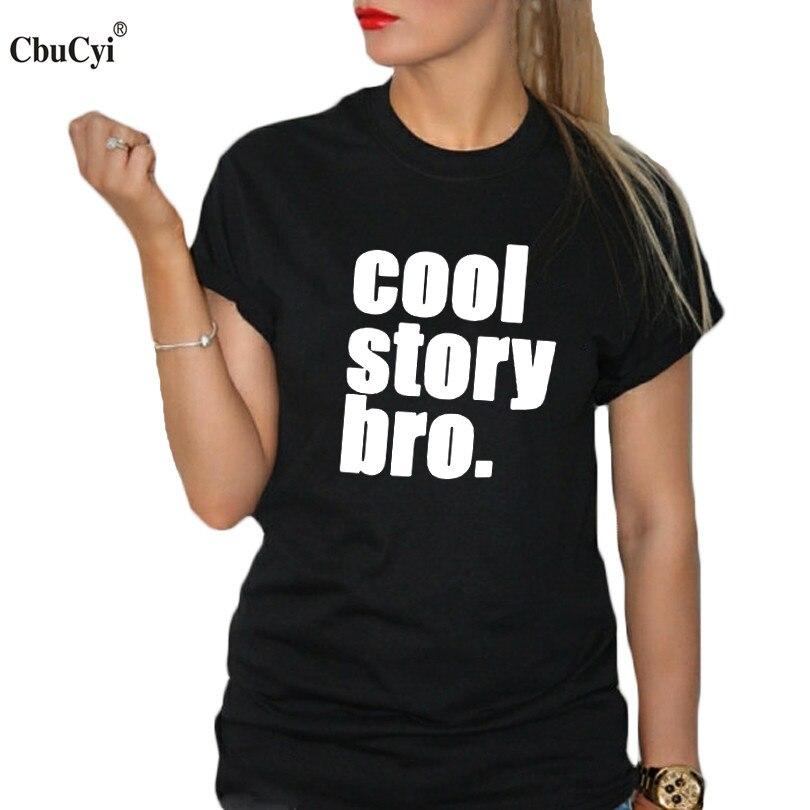 pretty nice 139c2 20c07 Cool Story Bro Shirt Tumblr Graphic Tees Women Funny T Shirt Workout ...