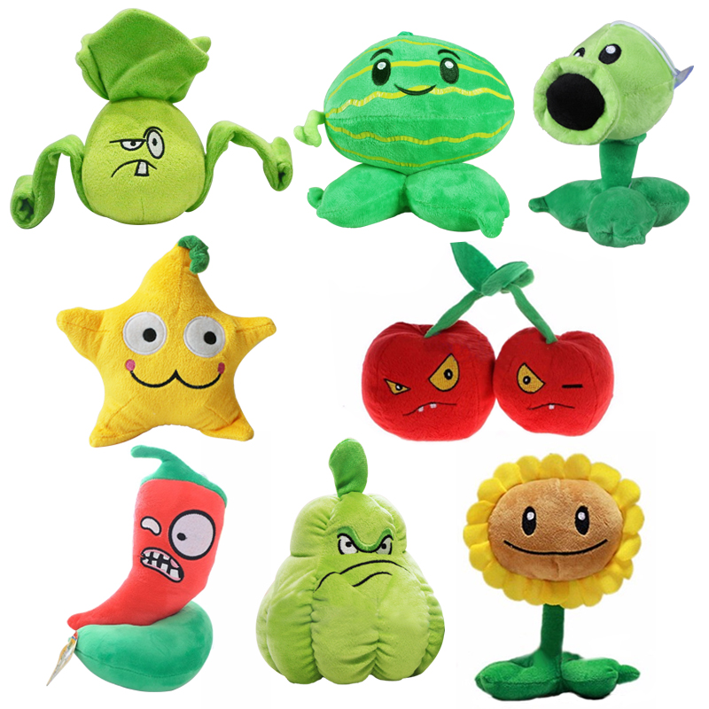 """2015 new style 6""""15CM (Peashooter) Plants vs zombies doll plush toy  games doll Baby kawaiii Toy Gifts toys Hot sales"""