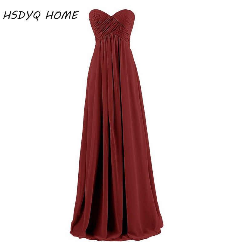 Dalam Saham Gratis Pengiriman Royal Blue Sifon Panjang Gaun Pengiring Pengantin Baru Fashion Pernikahan Pesta Gaun Robe Formal