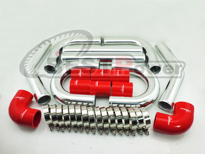2 INCH 51mm UNIVERSAL 2MM THICKNESS ALUMINUM INTERCOOLER TURBO PIPE PIPING