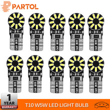 Partol 10Pcs T10 LED Bulbs W5W 168 194 Car Lights Auto Turn Signal Lamp Car Interior Lights Reverse Brake DRL DRL Lamp Brake 12V(China)